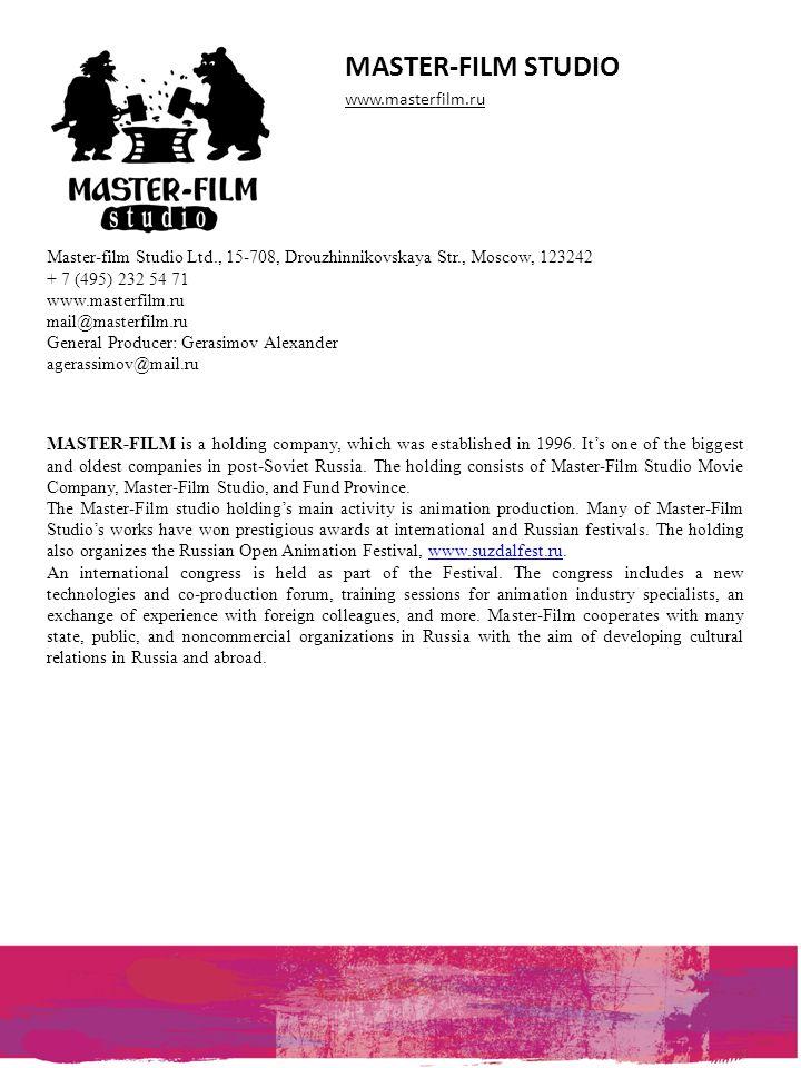 MASTER-FILM STUDIO www.masterfilm.ru