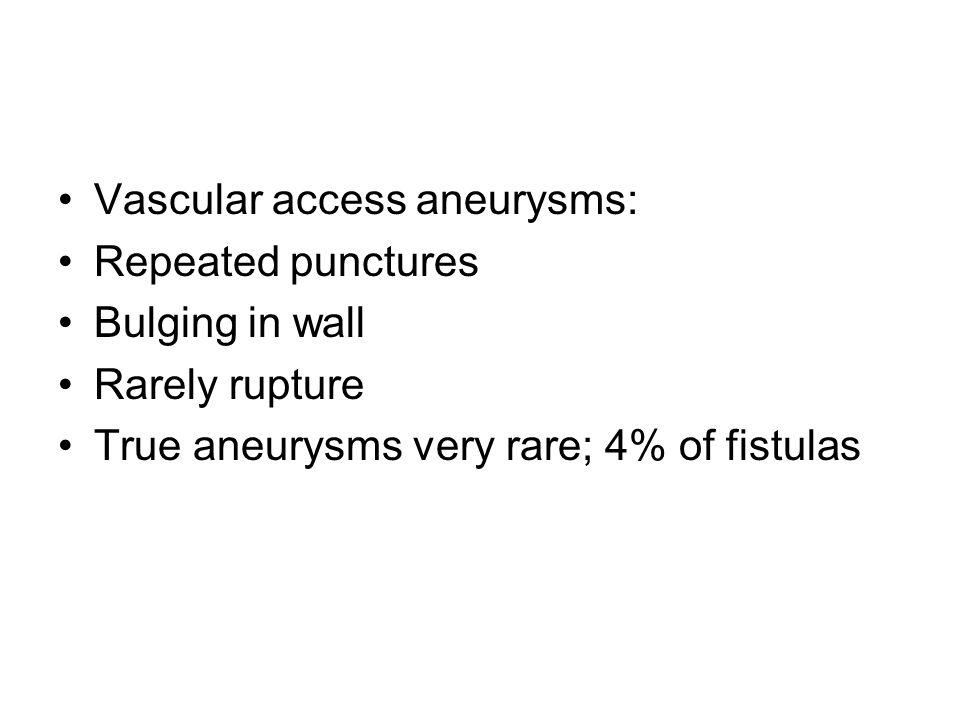 Vascular access aneurysms: