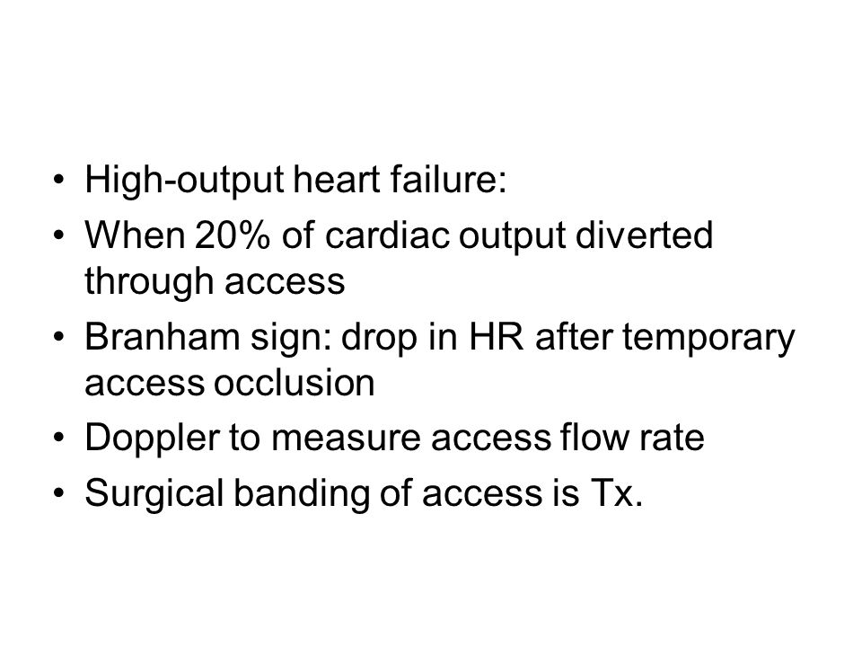 High-output heart failure: