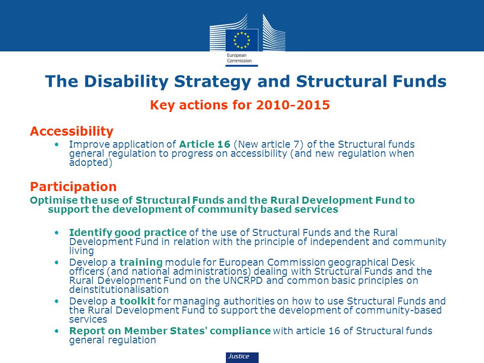 The Disability Strategy and Structural Funds