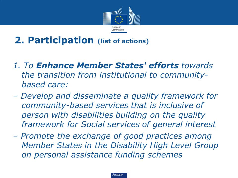 2. Participation (list of actions)