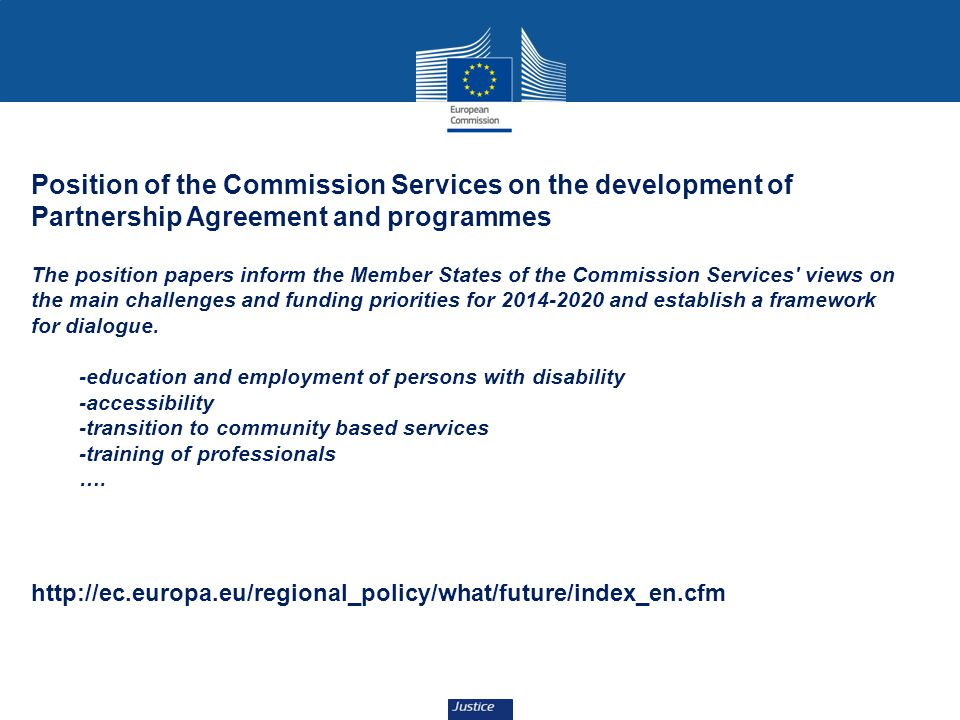 Position of the Commission Services on the development of Partnership Agreement and programmes