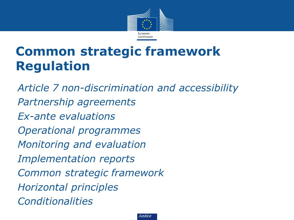 Common strategic framework Regulation