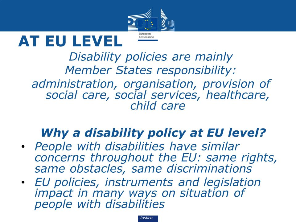 DISABILITY POLICY AT EU LEVEL