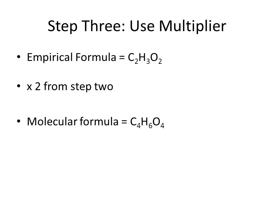 Step Three: Use Multiplier