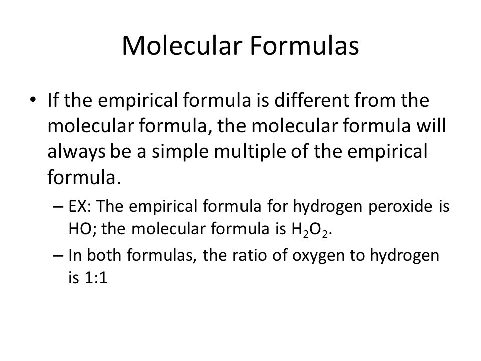 C10 Empirical and Molecular Formulas ppt video online download – Empirical and Molecular Formula Worksheet