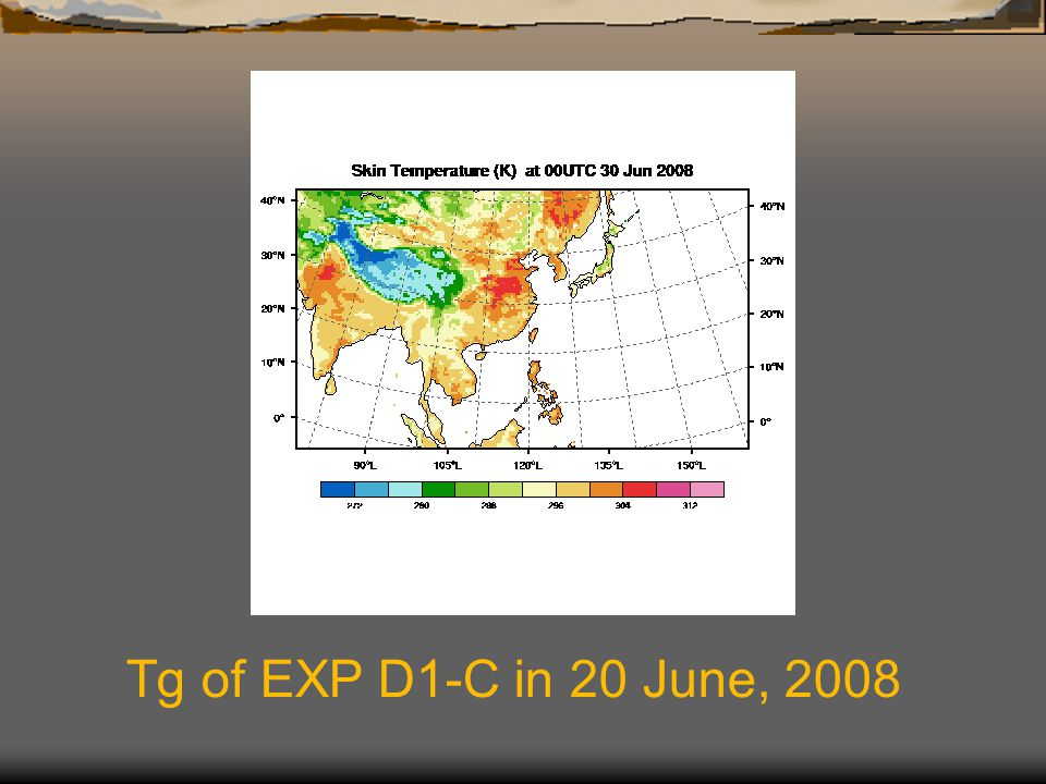 Tg of EXP D1-C in 20 June, 2008