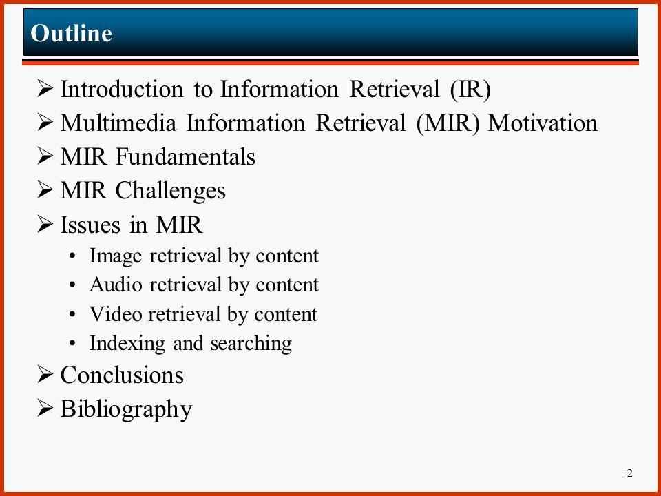 Introduction to Information Retrieval (IR)