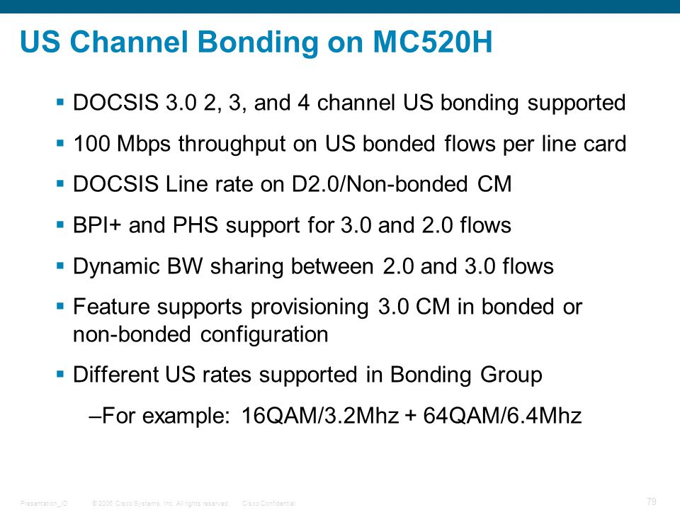 US Channel Bonding on MC520H