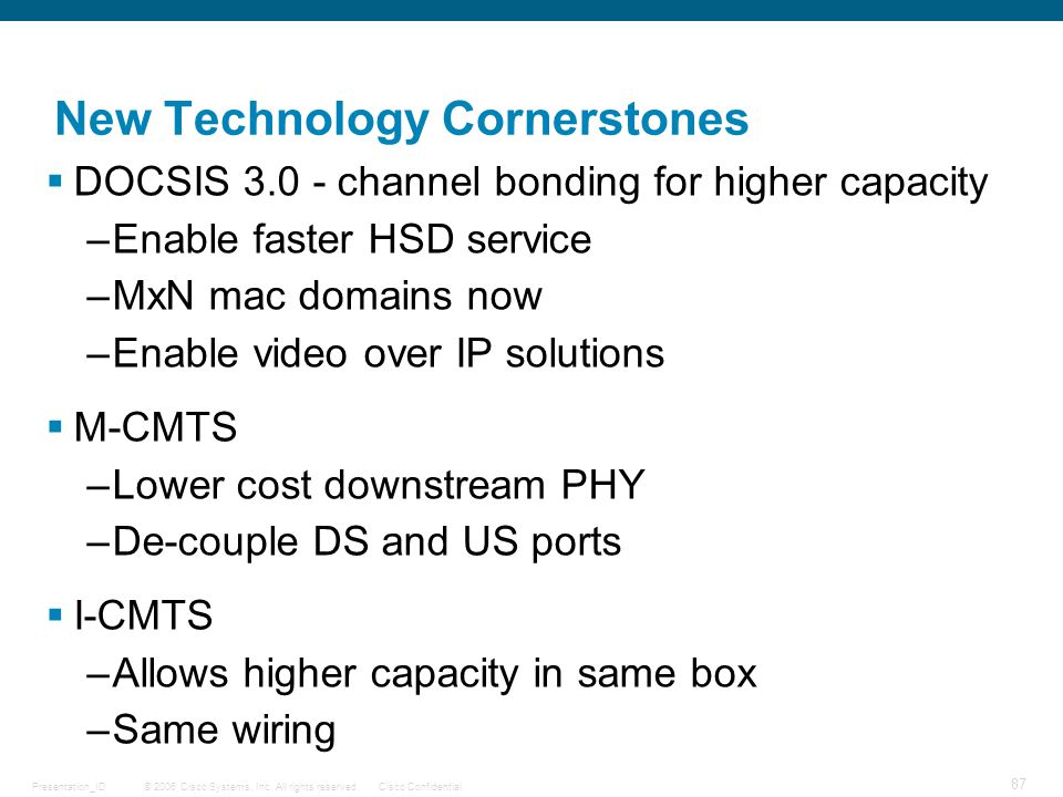 New Technology Cornerstones