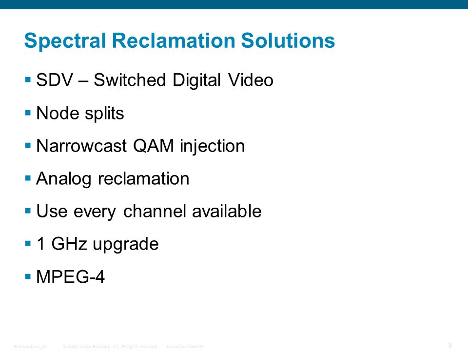 Spectral Reclamation Solutions