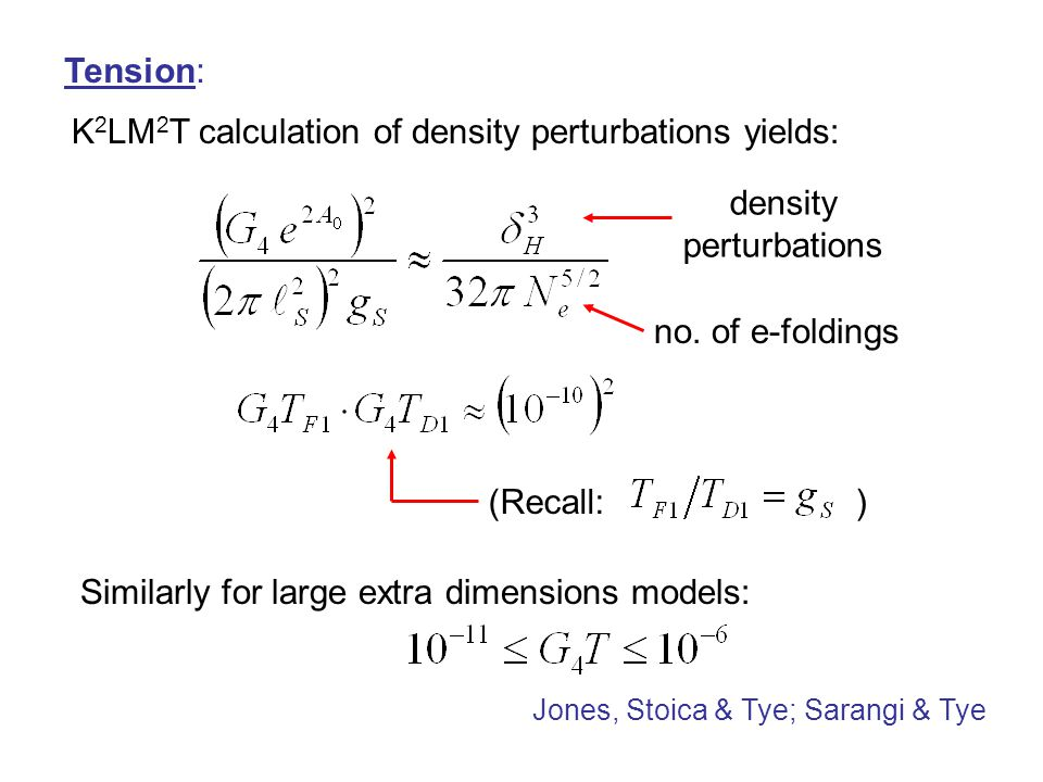 K2LM2T calculation of density perturbations yields: