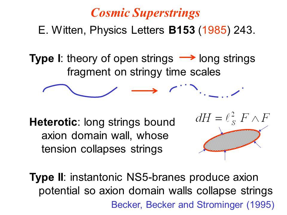 E. Witten, Physics Letters B153 (1985) 243.