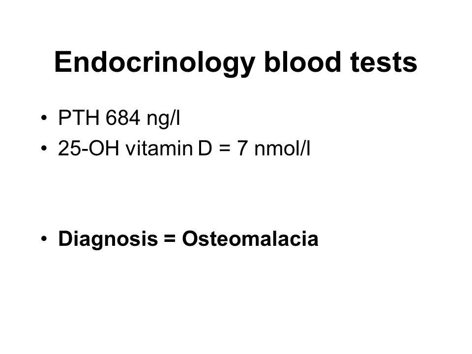 Endocrinology blood tests