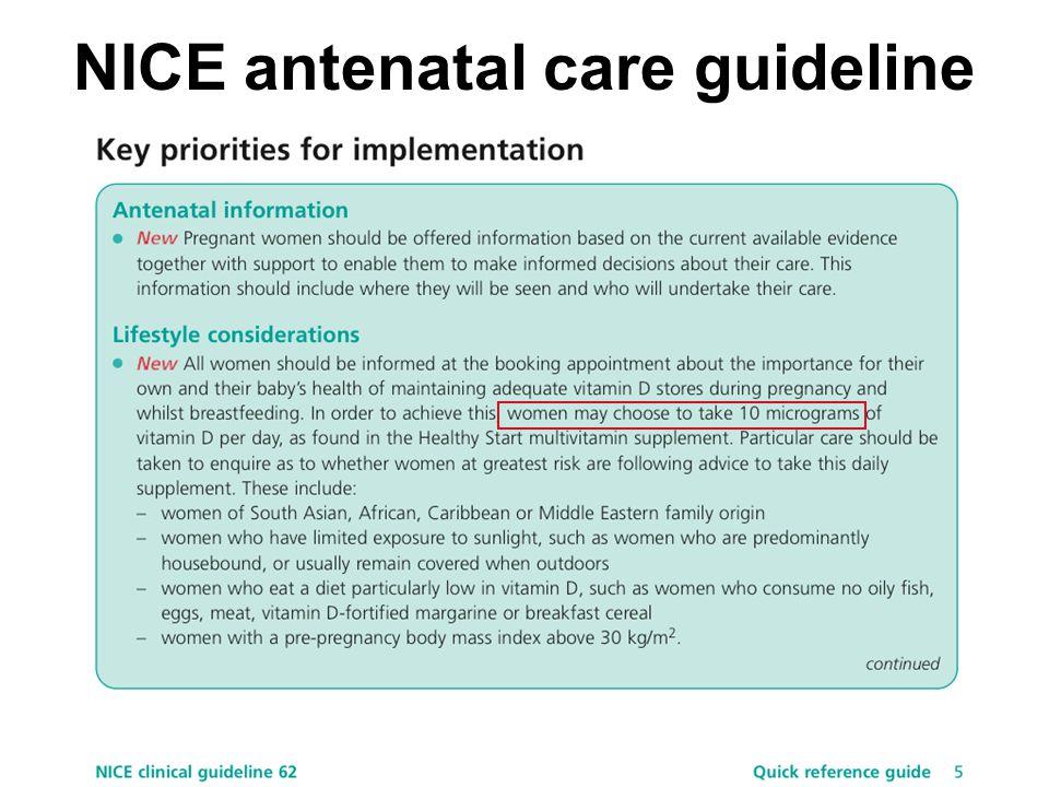 NICE antenatal care guideline
