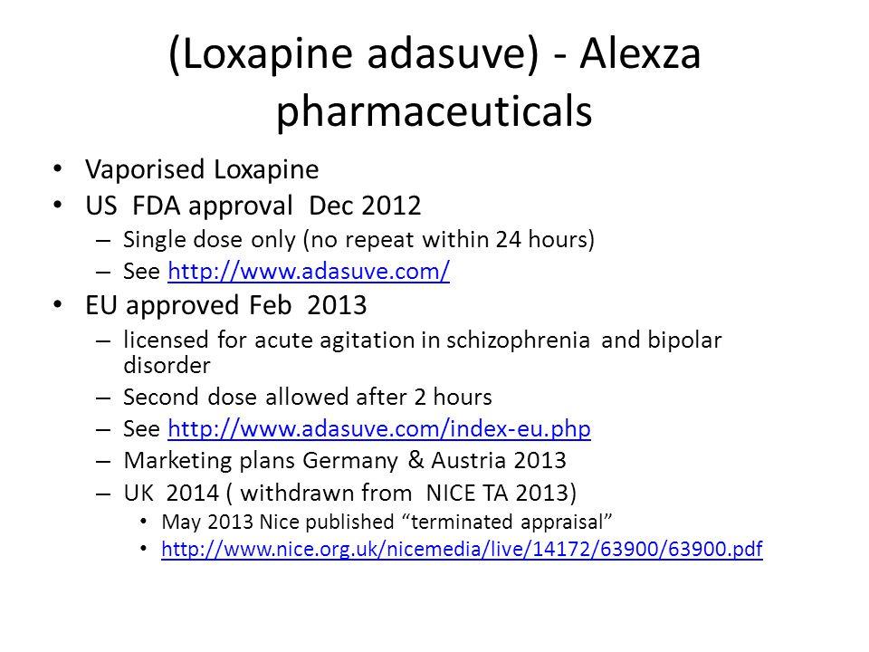 (Loxapine adasuve) - Alexza pharmaceuticals