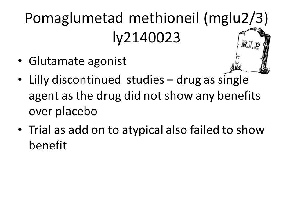 Pomaglumetad methioneil (mglu2/3) ly2140023