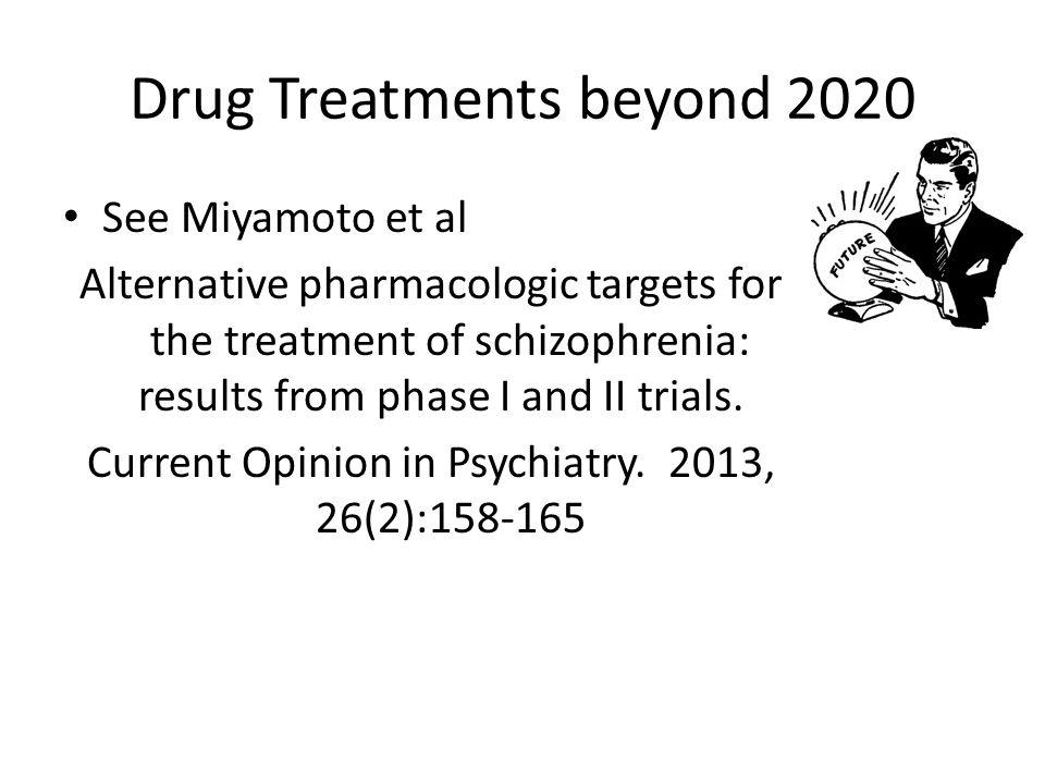 Drug Treatments beyond 2020