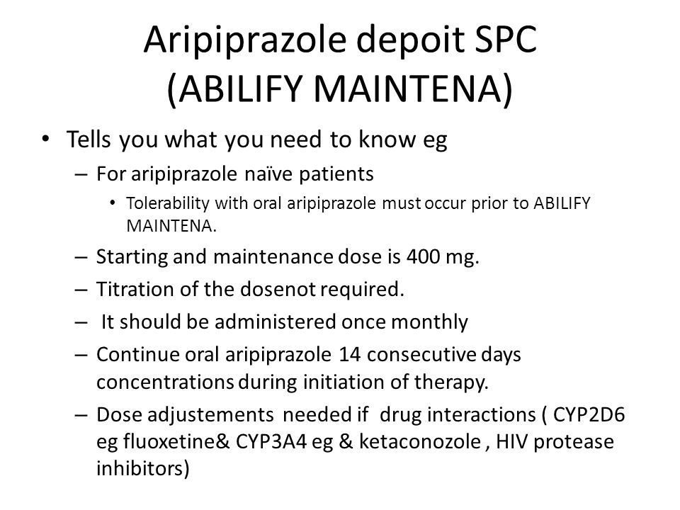 Aripiprazole depoit SPC (ABILIFY MAINTENA)