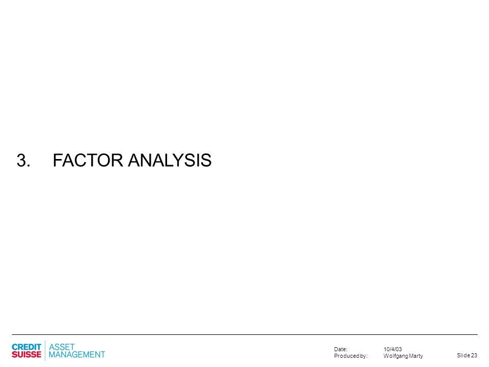 3. FACTOR ANALYSIS