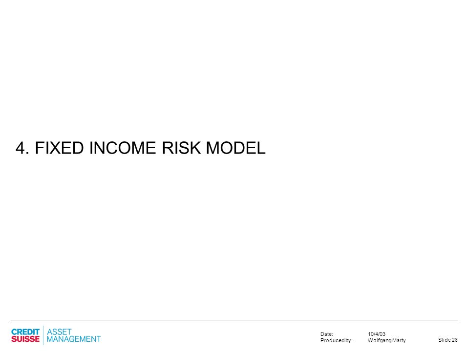 4. FIXED INCOME RISK MODEL