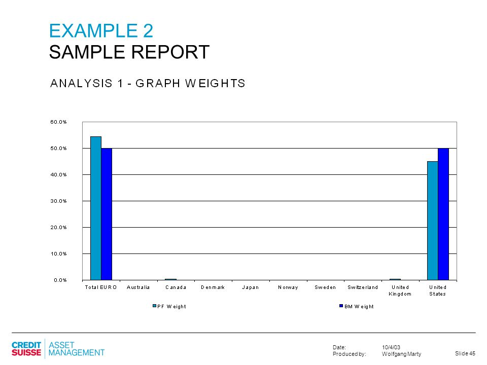 EXAMPLE 2 SAMPLE REPORT