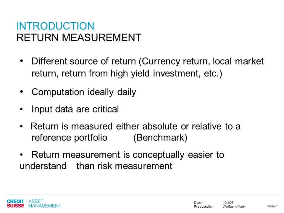 an introduction to the return of investment Operations finance calculating roi to realize project value return on investment (roi) is a key calculation in answering these questions, as well as showing the project value and its impact on the margin depending on the industry, there are multiple interpretations of roi.