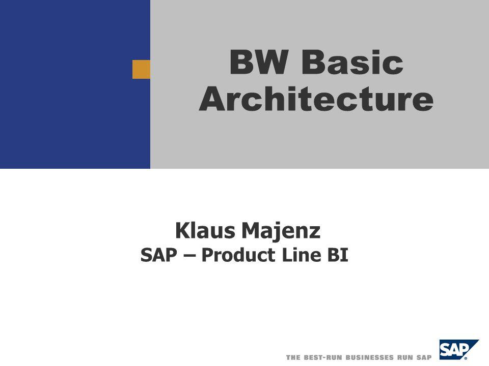 Klaus Majenz SAP – Product Line BI