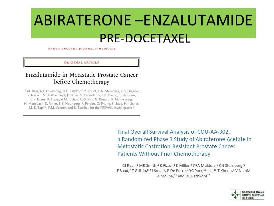 ABIRATERONE –ENZALUTAMIDE PRE-DOCETAXEL