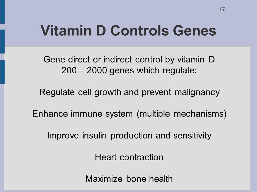 Vitamin D Controls Genes