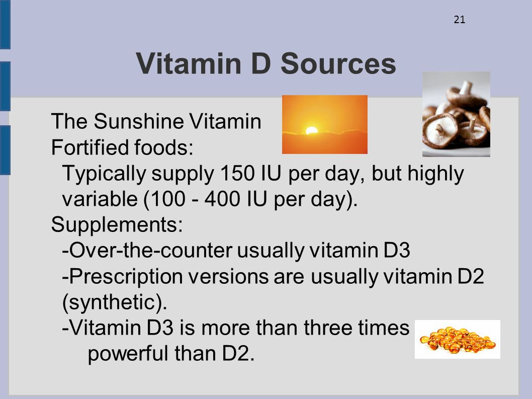 Vitamin D Sources The Sunshine Vitamin Fortified foods: