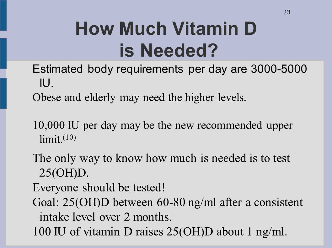 How Much Vitamin D is Needed