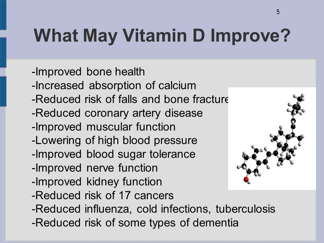 What May Vitamin D Improve