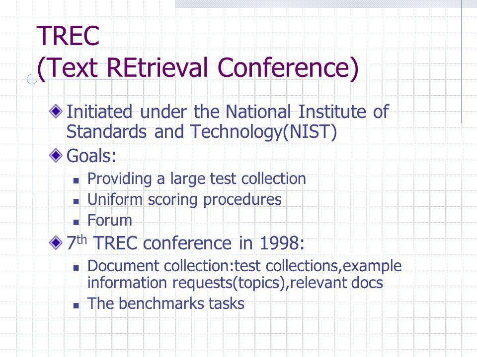 TREC (Text REtrieval Conference)