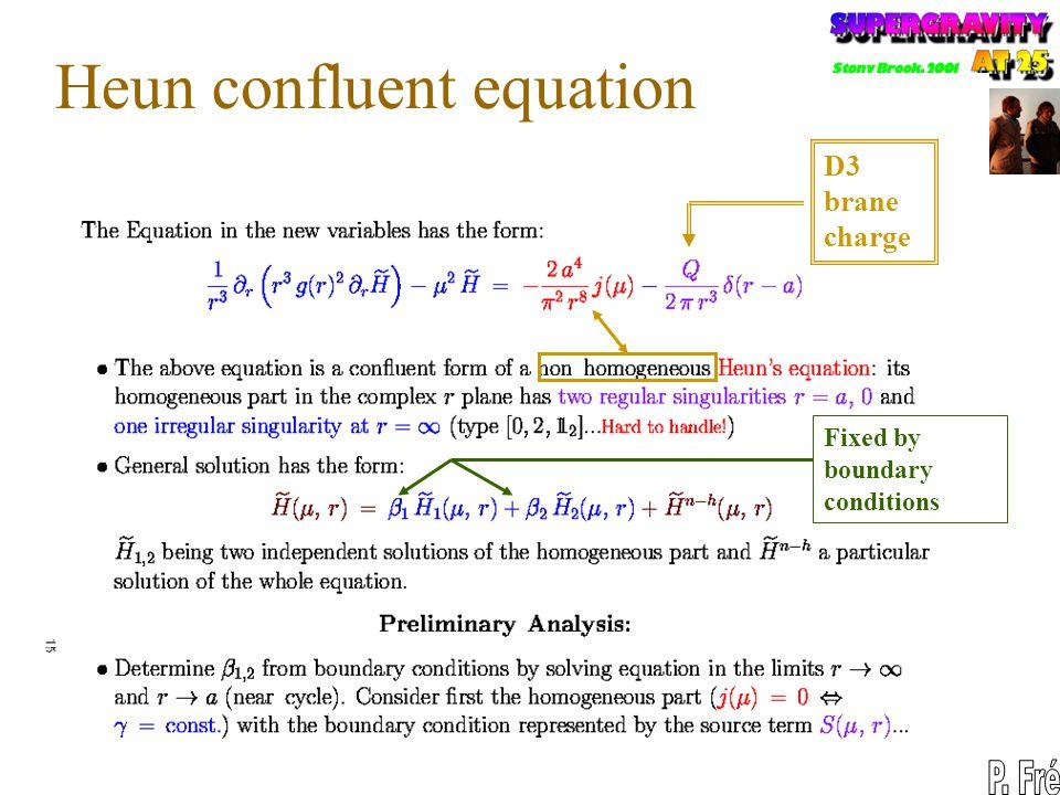 Heun confluent equation