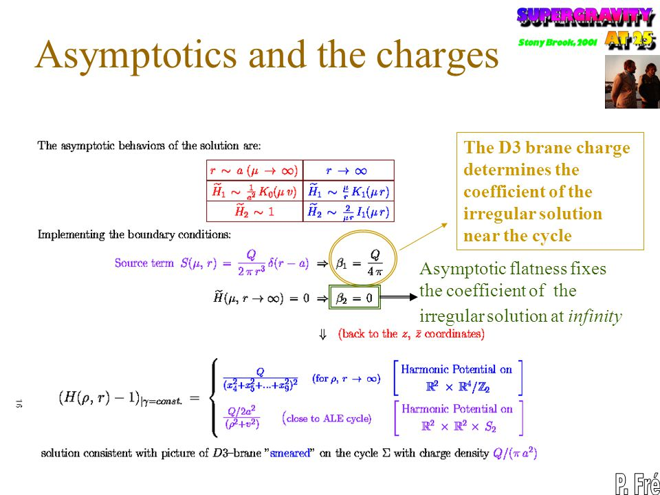 Asymptotics and the charges