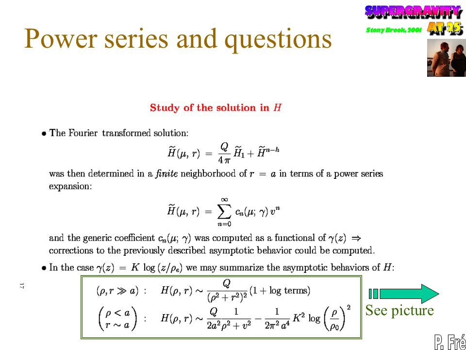 Power series and questions