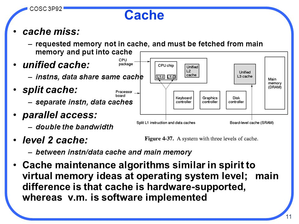 Cache cache miss: unified cache: split cache: parallel access: