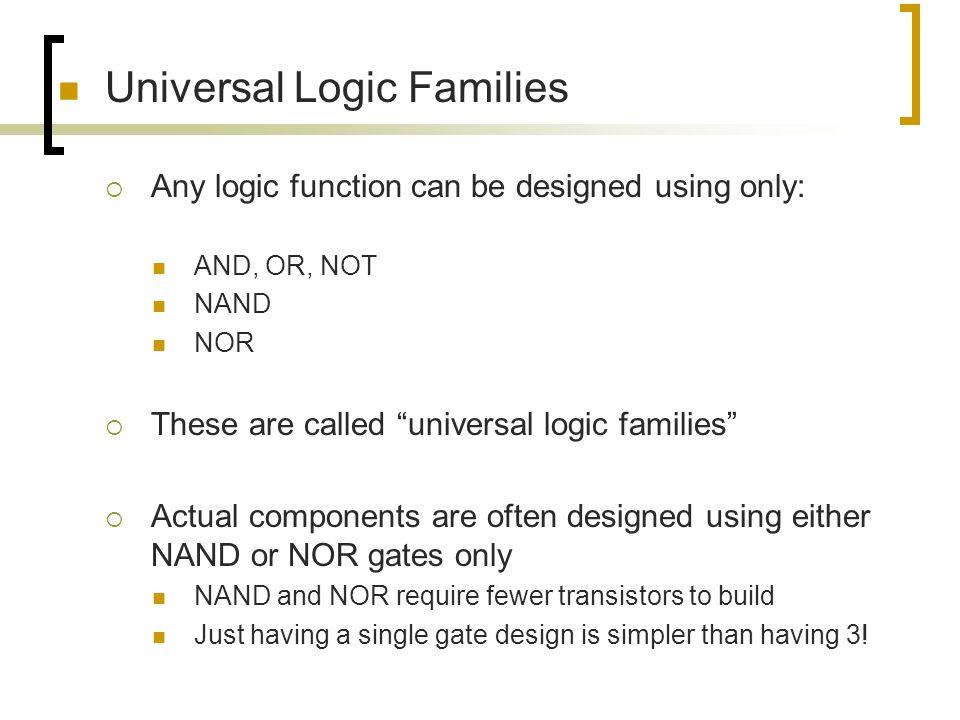 Universal Logic Families