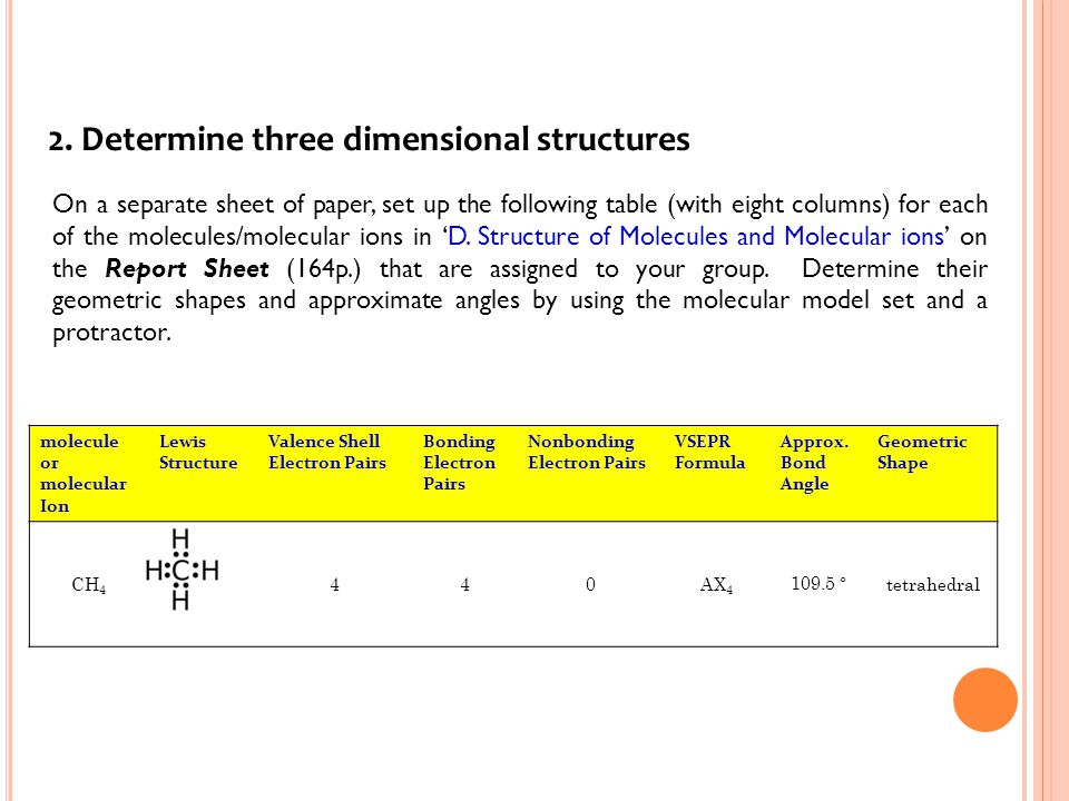 2. Determine three dimensional structures