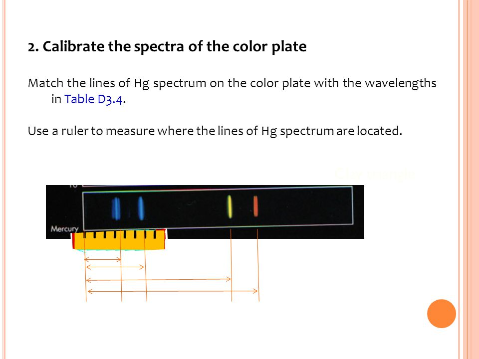 2. Calibrate the spectra of the color plate