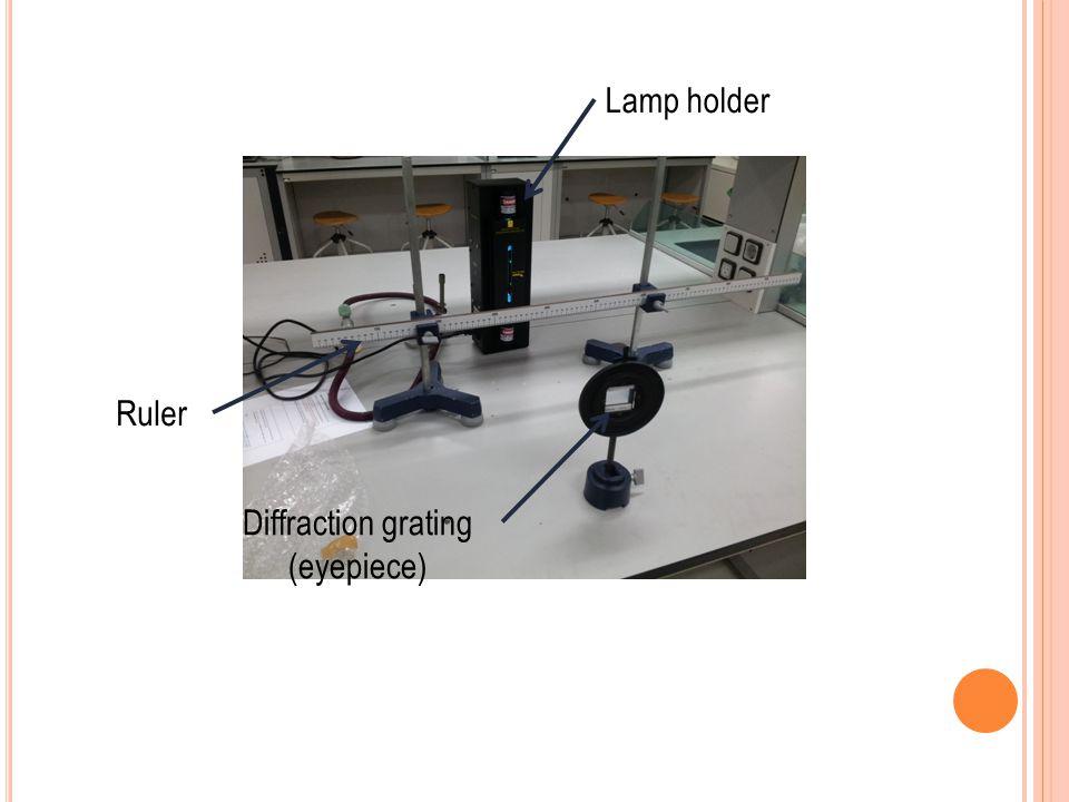 Lamp holder Ruler Diffraction grating (eyepiece)