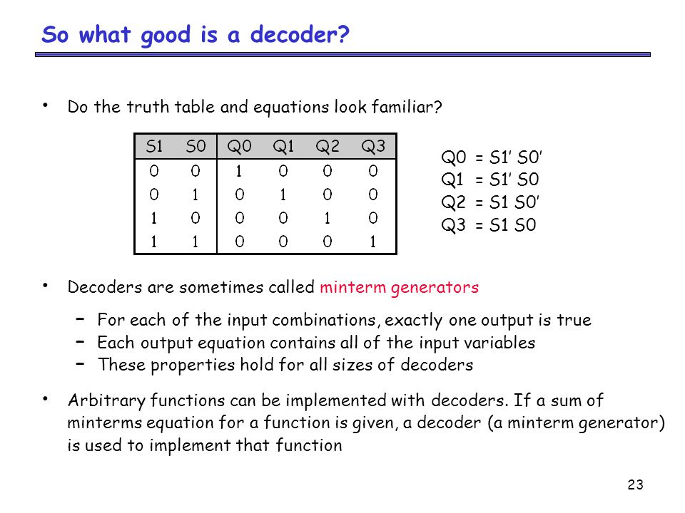 So what good is a decoder
