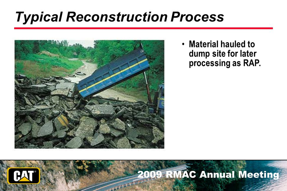 Typical Reconstruction Process