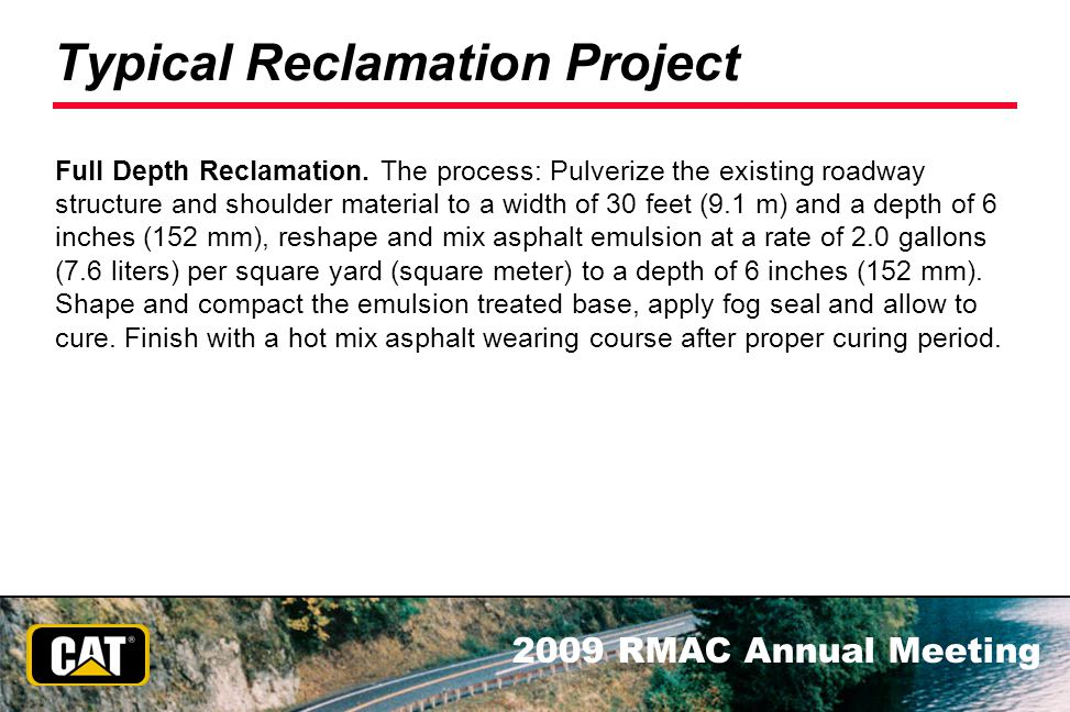Typical Reclamation Project