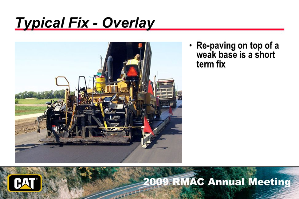 Typical Fix - Overlay Re-paving on top of a weak base is a short term fix