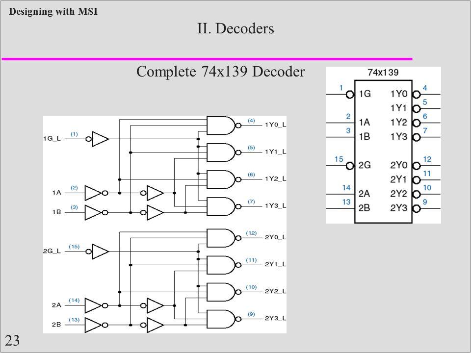 II. Decoders Complete 74x139 Decoder