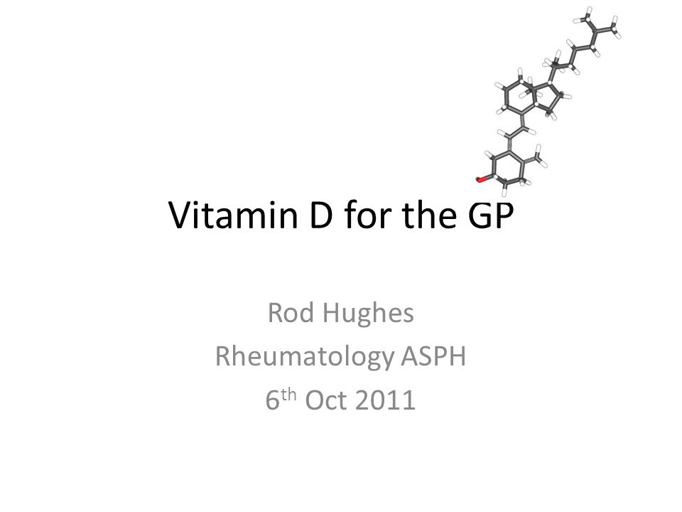 Rod Hughes Rheumatology ASPH 6th Oct 2011
