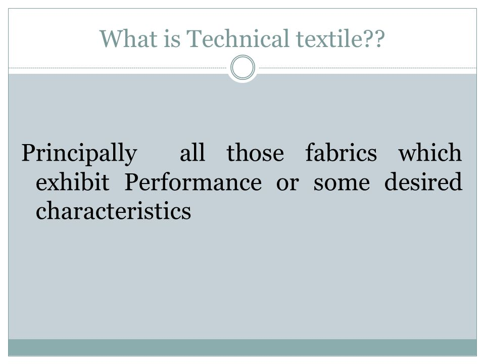 What is Technical textile