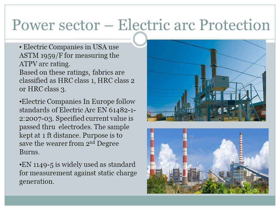 Power sector – Electric arc Protection